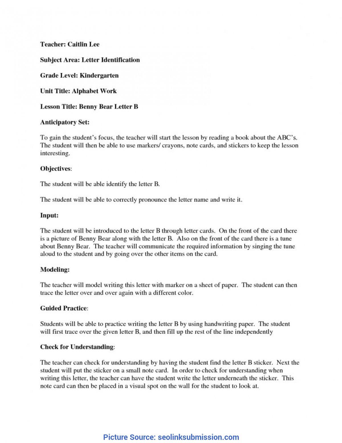 Interesting Madeline Hunter Lesson Plan Example Kindergarten in Madeline Hunter Lesson Plan Blank Template