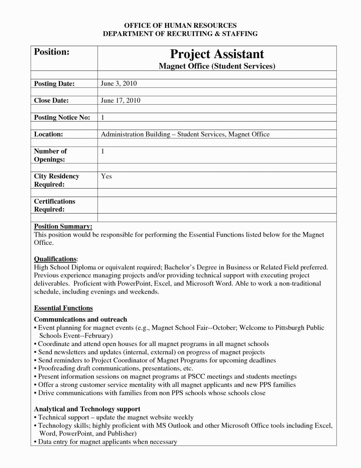 Internal Job Posting Template Word - Atlantaauctionco With Internal Job Posting Template Word