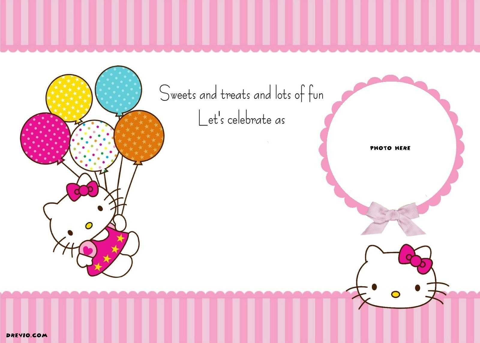 Invitation Template Hello Kitty | Website Templates regarding Hello Kitty Banner Template