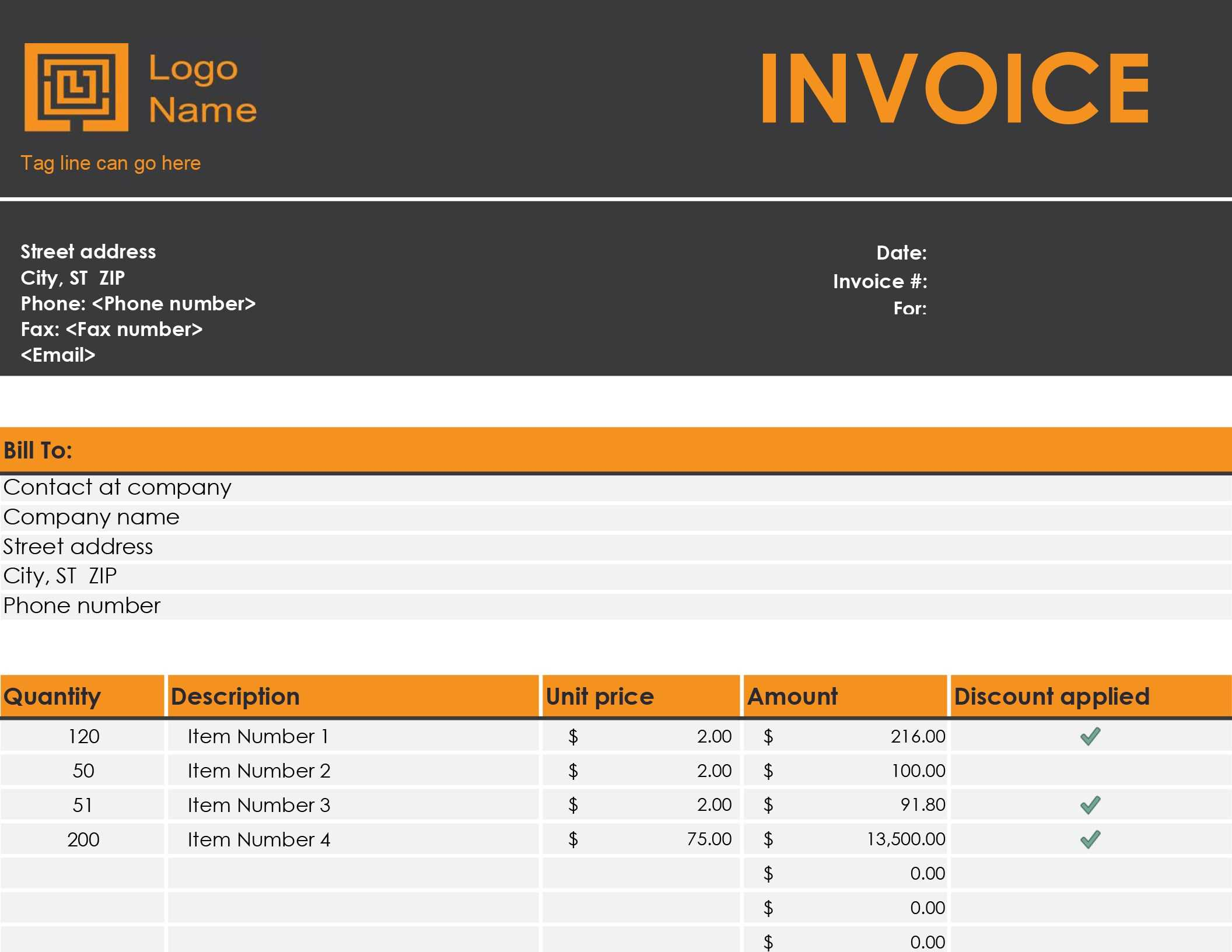 Invoices - Office With Invoice Template Word 2010 with regard to Invoice Template Word 2010