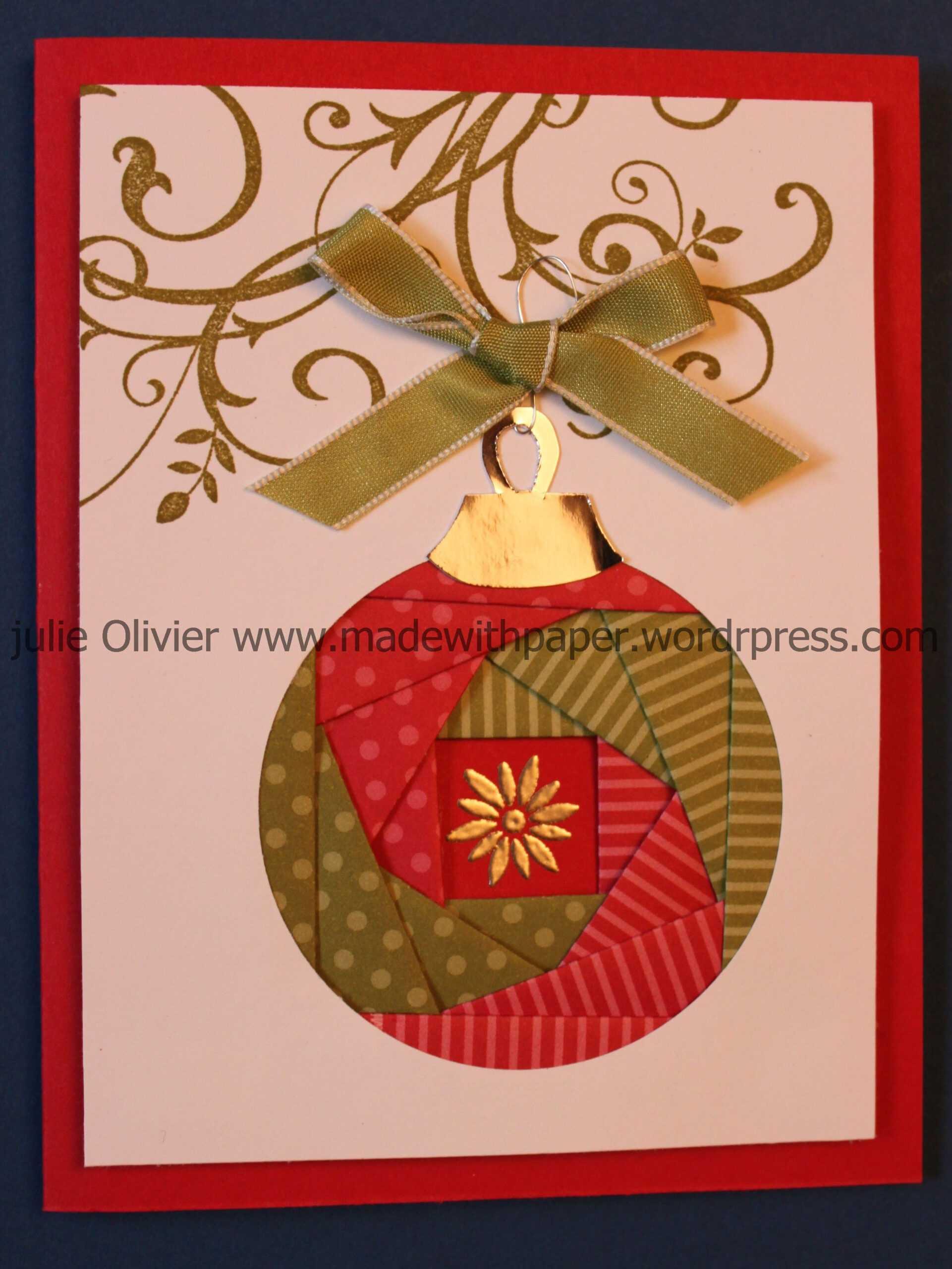 Iris Folding: Christmas Ornament | Cards - Iris Folding With Regard To Iris Folding Christmas Cards Templates