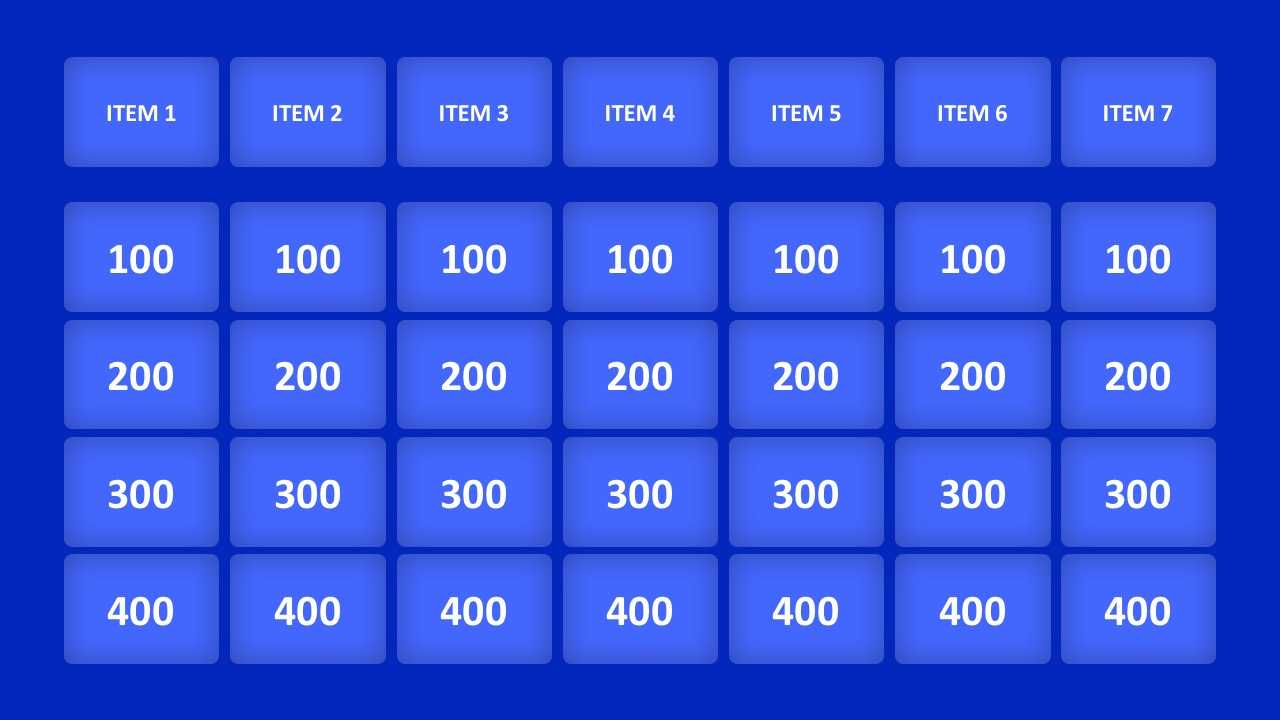 Jeopardy Game Powerpoint Templates for Powerpoint Template Games For Education