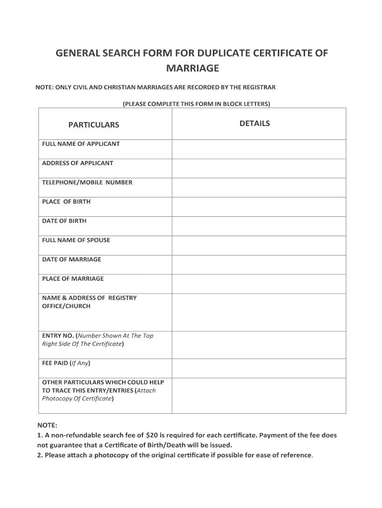 Kenya Marriage Certificate Sample – Fill Online, Printable Regarding Certificate Of Disposal Template