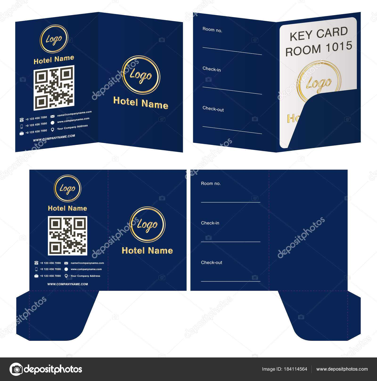 Key Card Holder Template   Hotel Key Card Holder Folder Regarding Hotel Key Card Template