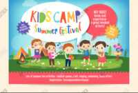 Kids Summer Camp Vector & Photo (Free Trial) | Bigstock within Summer Camp Brochure Template Free Download