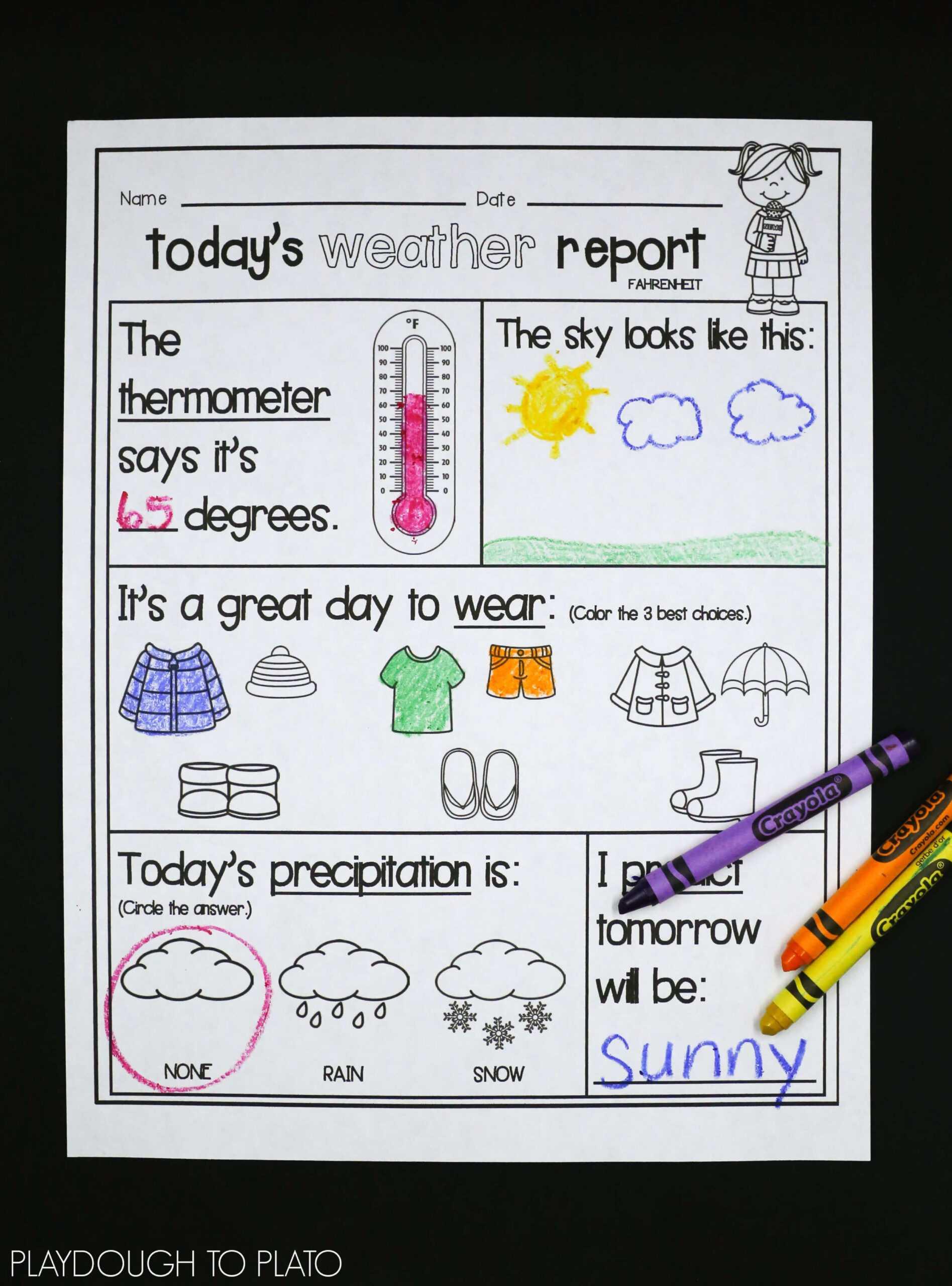 Kids Weather Report Template - Atlantaauctionco Regarding Kids Weather Report Template