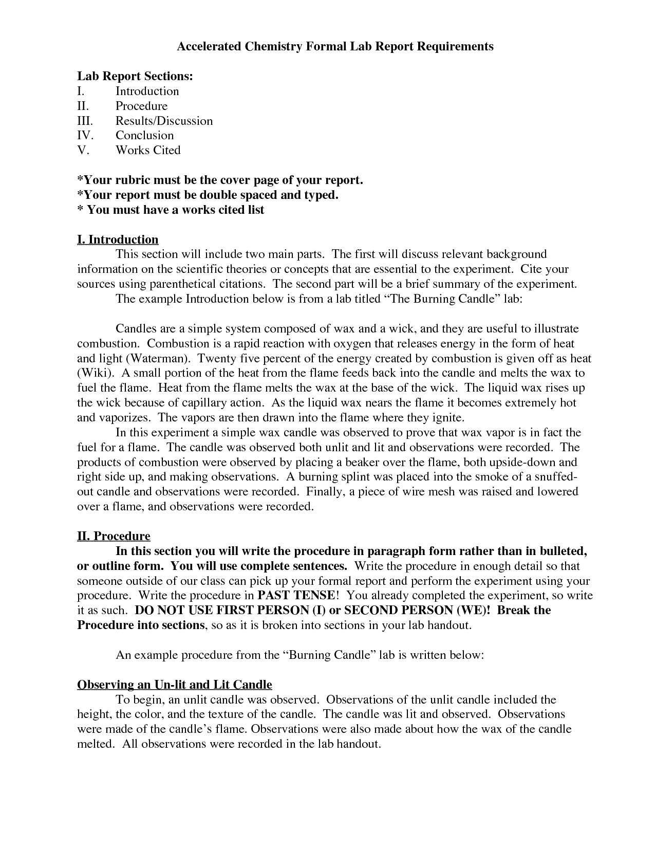 Lab Report Chemistry Ib – Bushveld Lab in Ib Lab Report Template