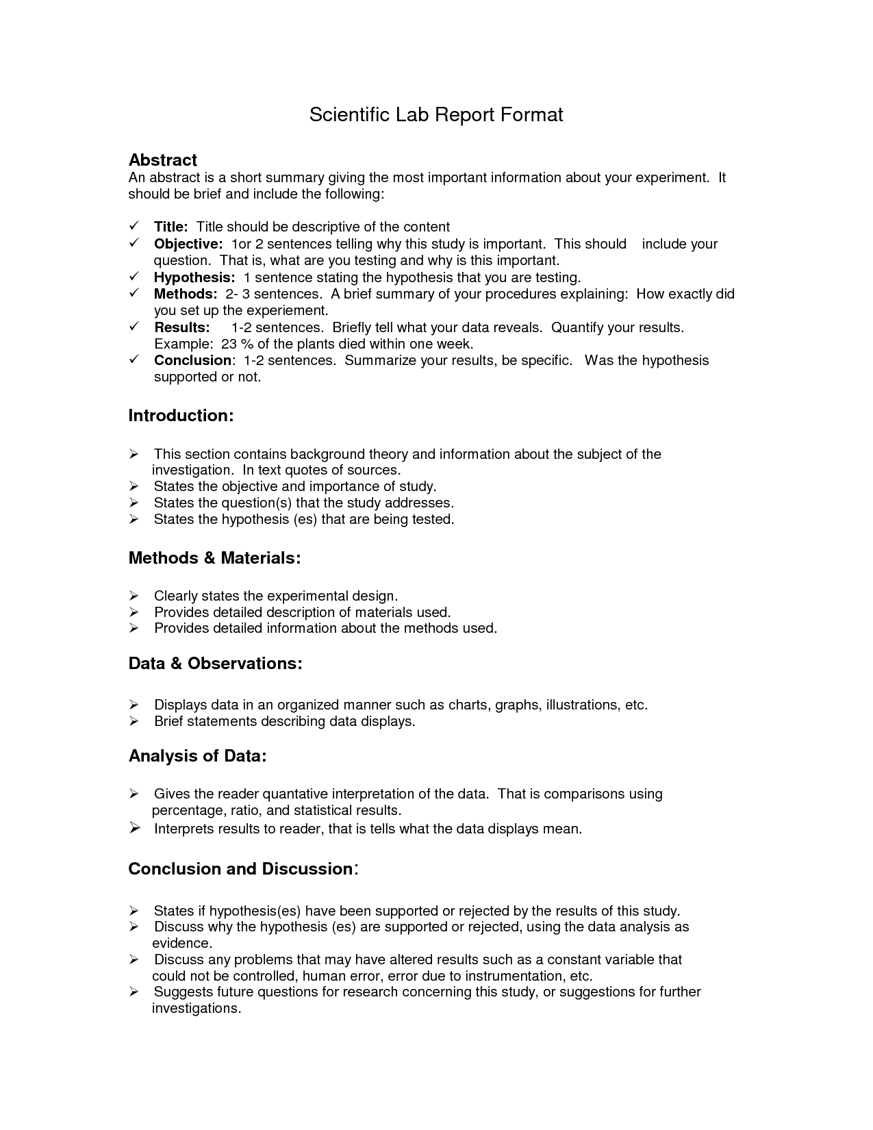 Lab Report Format Doc | Lab Report, Lab Report Template intended for Biology Lab Report Template