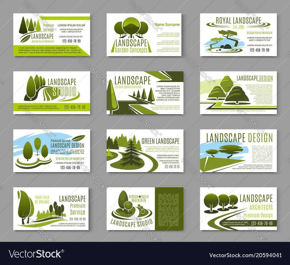 Landscape Design Studio Business Card Template Intended For Landscaping Business Card Template
