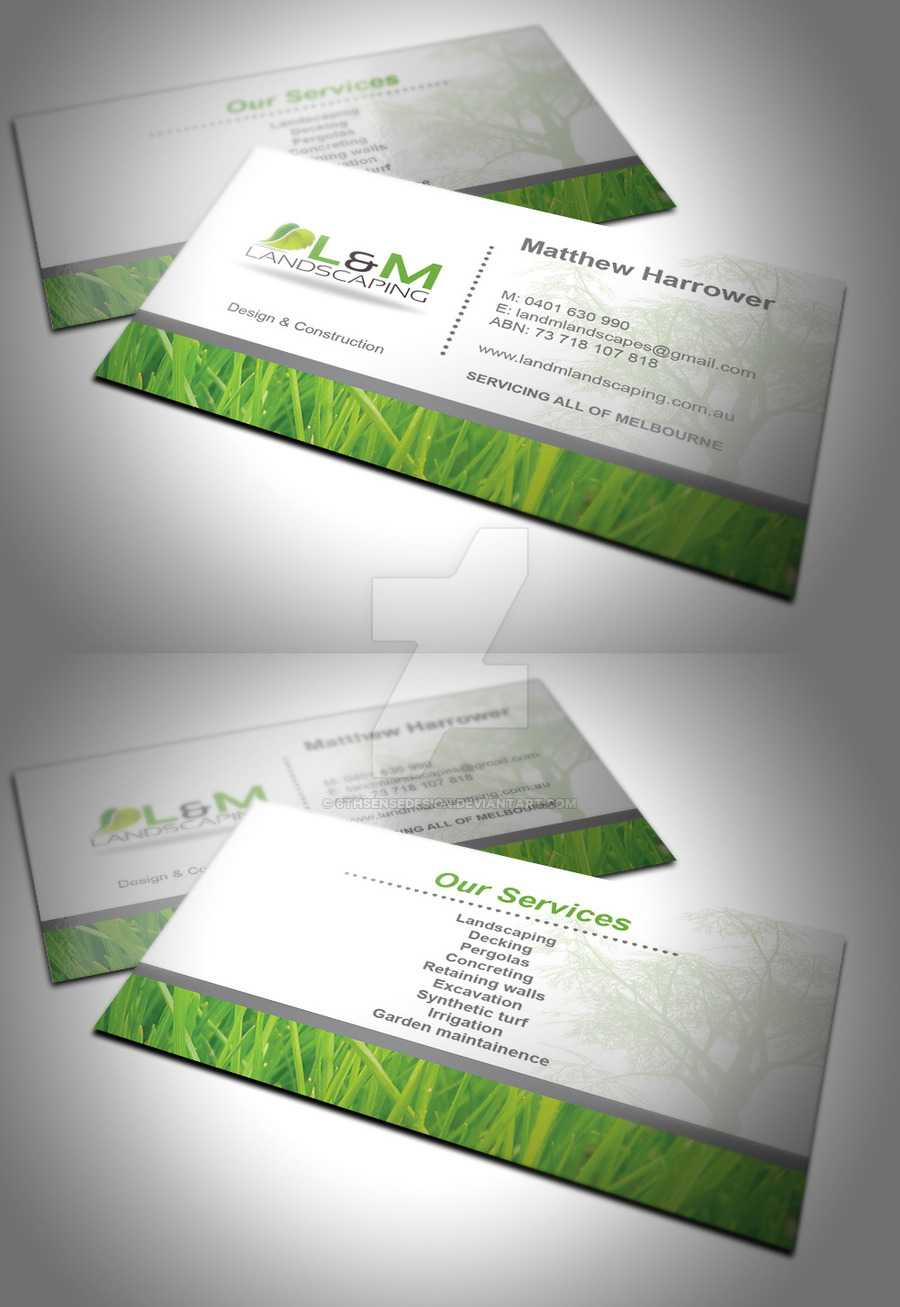 Landscaping Business Card Ideas L And M6Thsensedesign On throughout Landscaping Business Card Template