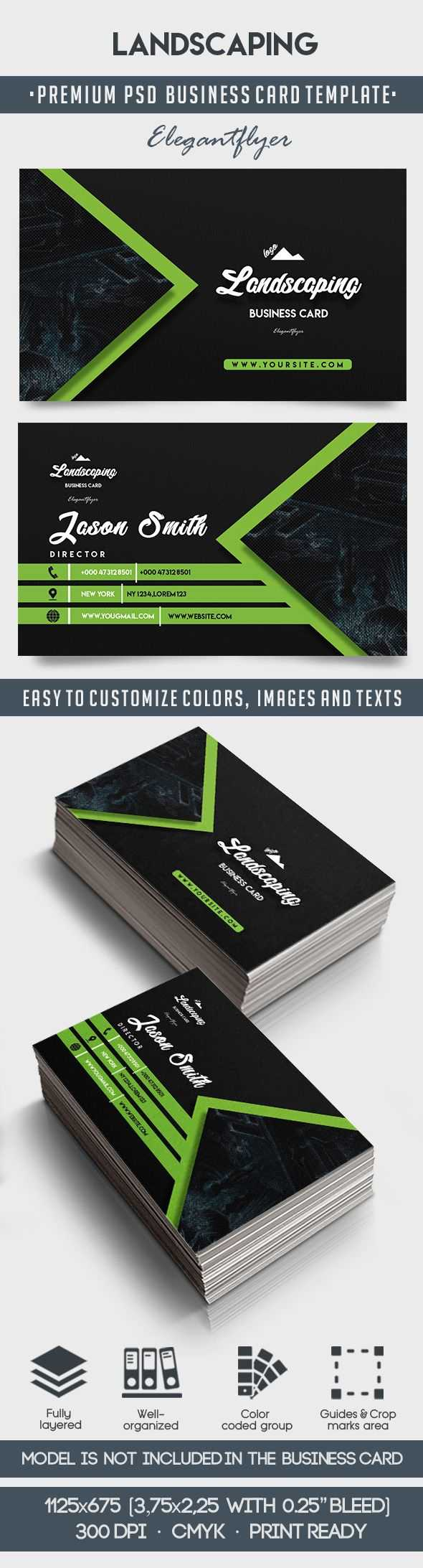 Landscaping – Business Card Templates Psd intended for Landscaping Business Card Template