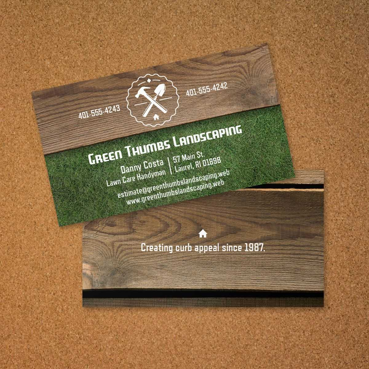 Landscaping Business Card   Vistaprint   Avery Business with Landscaping Business Card Template