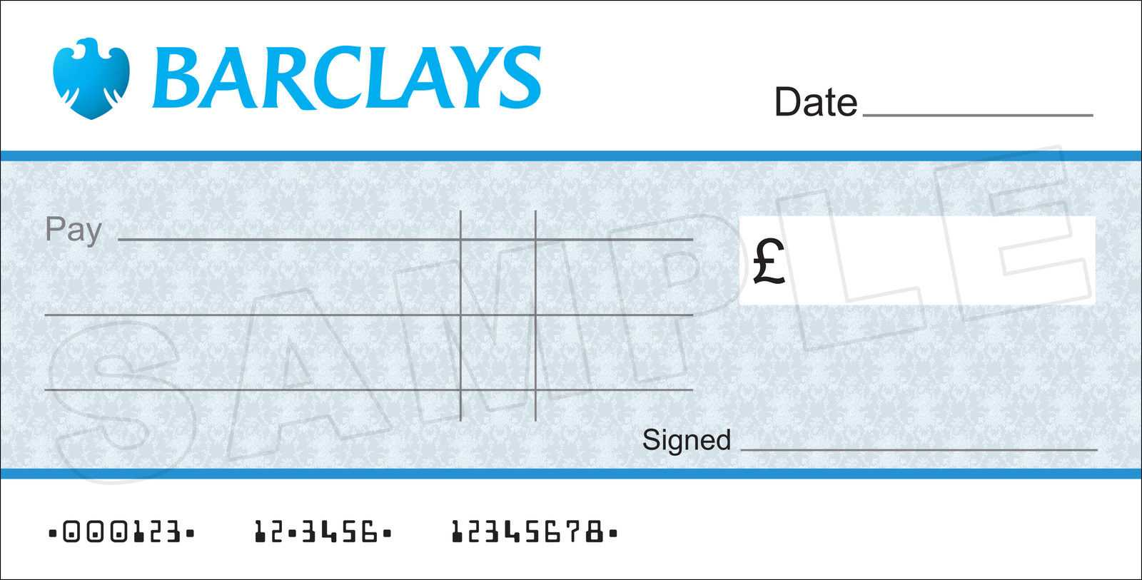Large Blank Barclays Bank Cheque For Charity / Presentation within Blank Cheque Template Uk