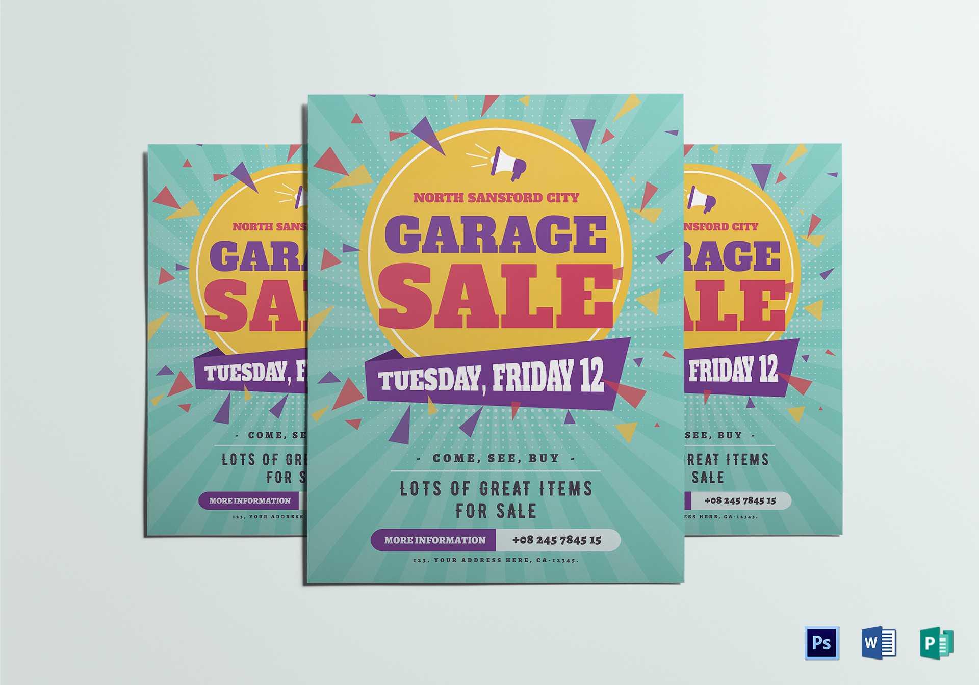 Large Garage Sale Flyer Template Intended For Garage Sale Flyer Template Word