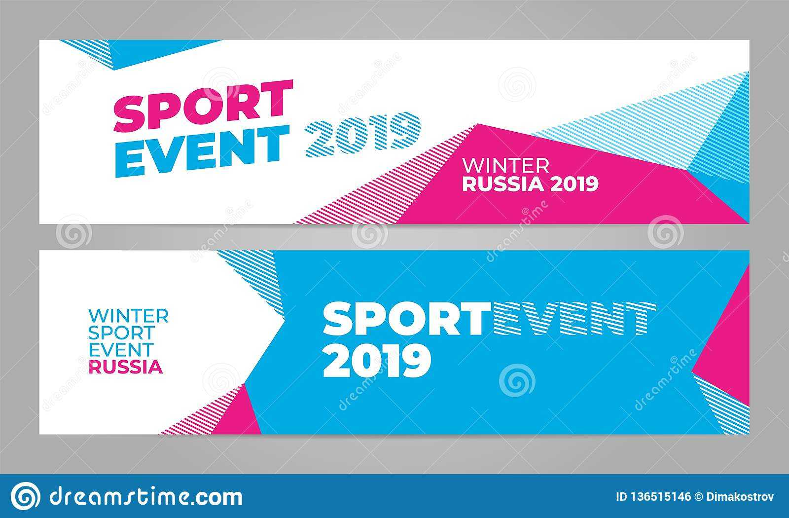 Layout Banner Template Design For Winter Sport Event 2019 In Sports Banner Templates