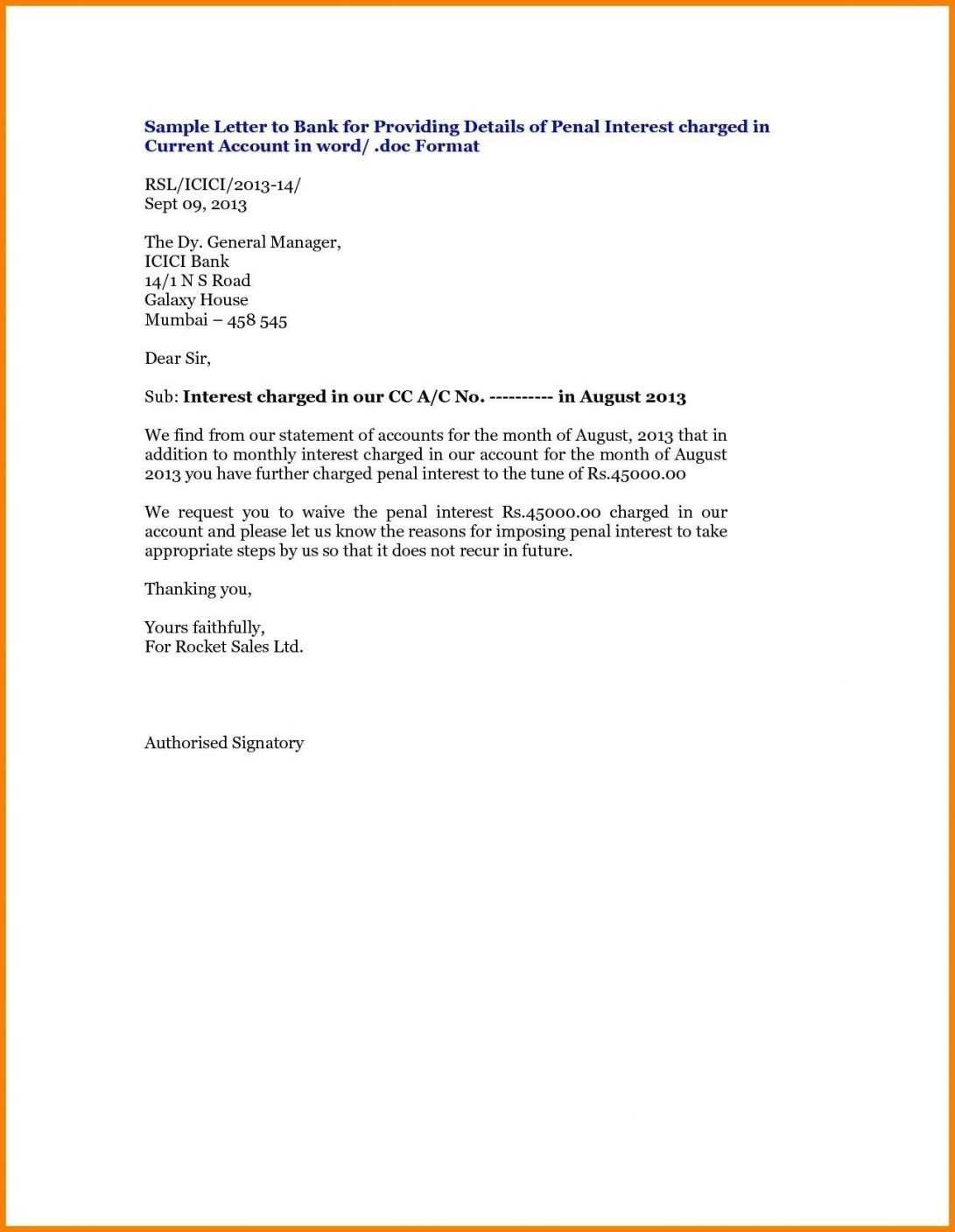 Letter Format Close Bank Account Best Of Template To Noc within Noc Report Template