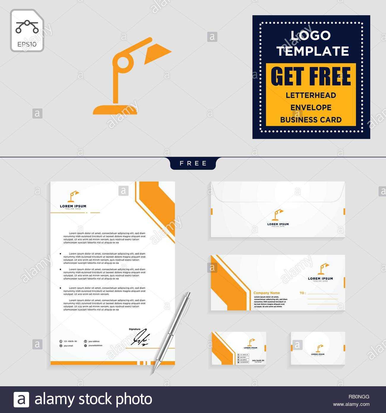 Light Interior Logo Template, Vector Illustration And intended for Business Card Letterhead Envelope Template