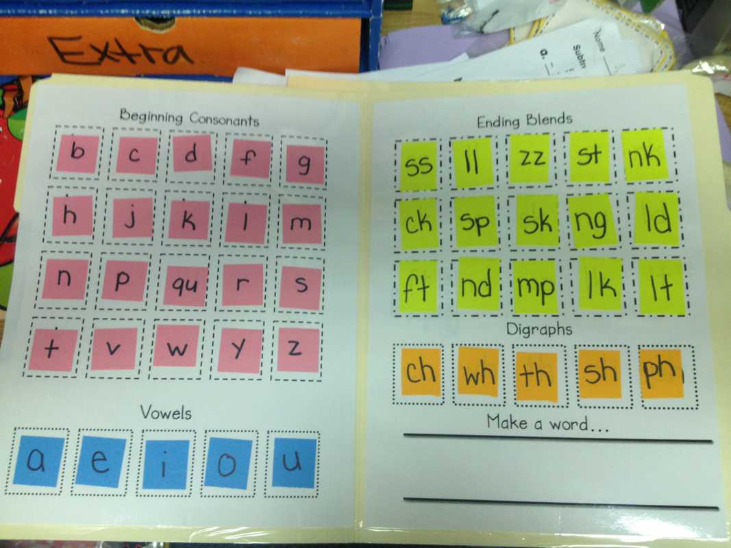Lively Learners Blog - Learning Laboratory! Inside Making Words Template