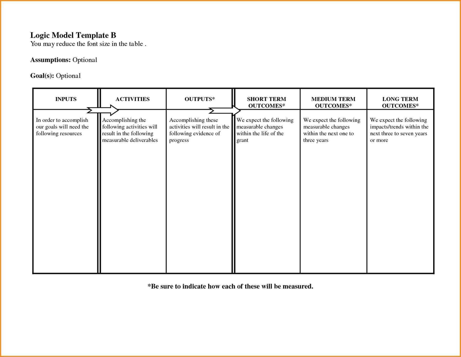 Logic Model Template Microsoft Word - Atlantaauctionco Pertaining To Logic Model Template Word