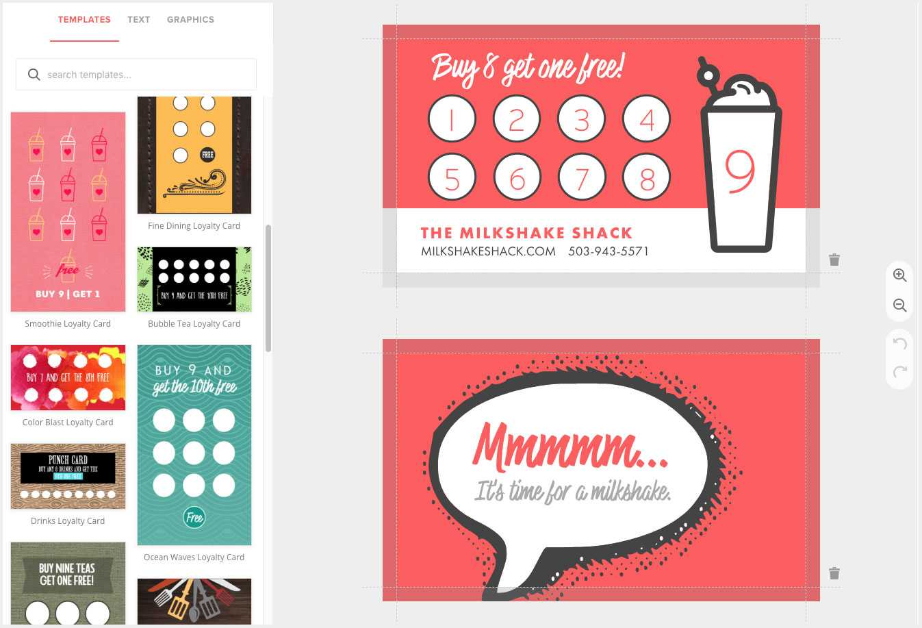 Loyalty Card Maker, Custom Punch Cards – Musthavemenus Pertaining To Business Punch Card Template Free