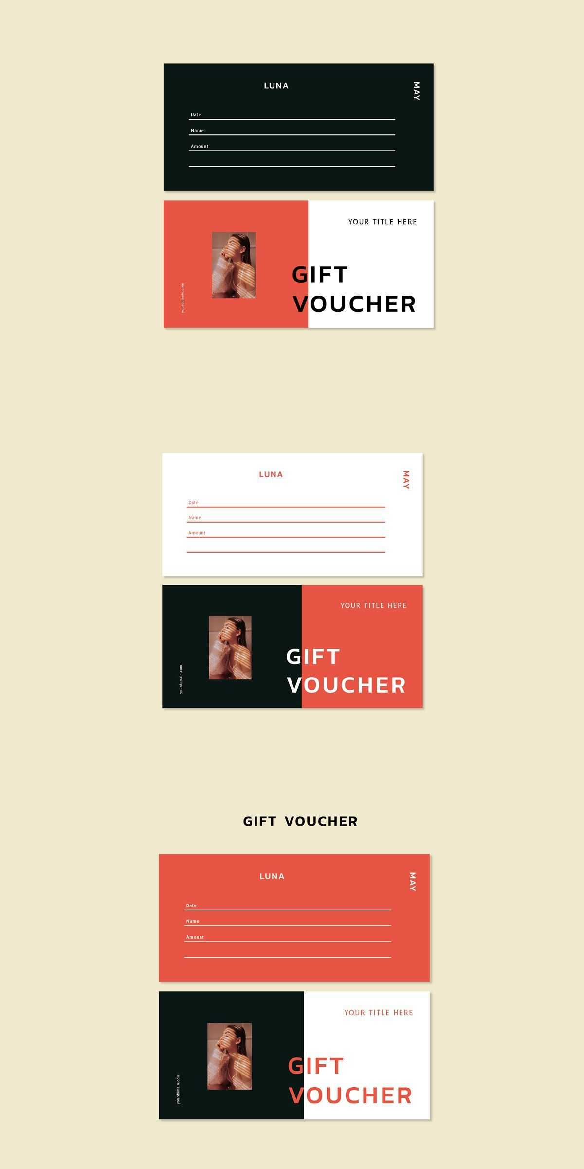 Luna May - Gift Voucher Template   Best Card Templates intended for Indesign Gift Certificate Template