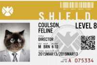 Make Your Own Business Cards Template Lovely Agents Of Throughout Shield Id Card Template