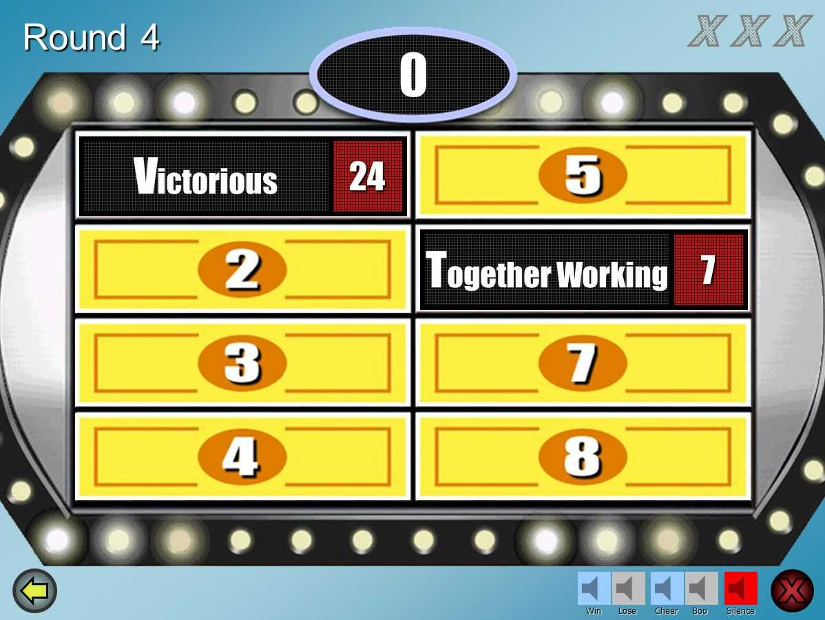 Make Your Own Family Feud Game With These Free Templates For Family Feud Powerpoint Template With Sound