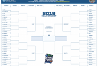 March Madness 2019 Bracket Template (Free Printable Pdf) with regard to Blank Ncaa Bracket Template