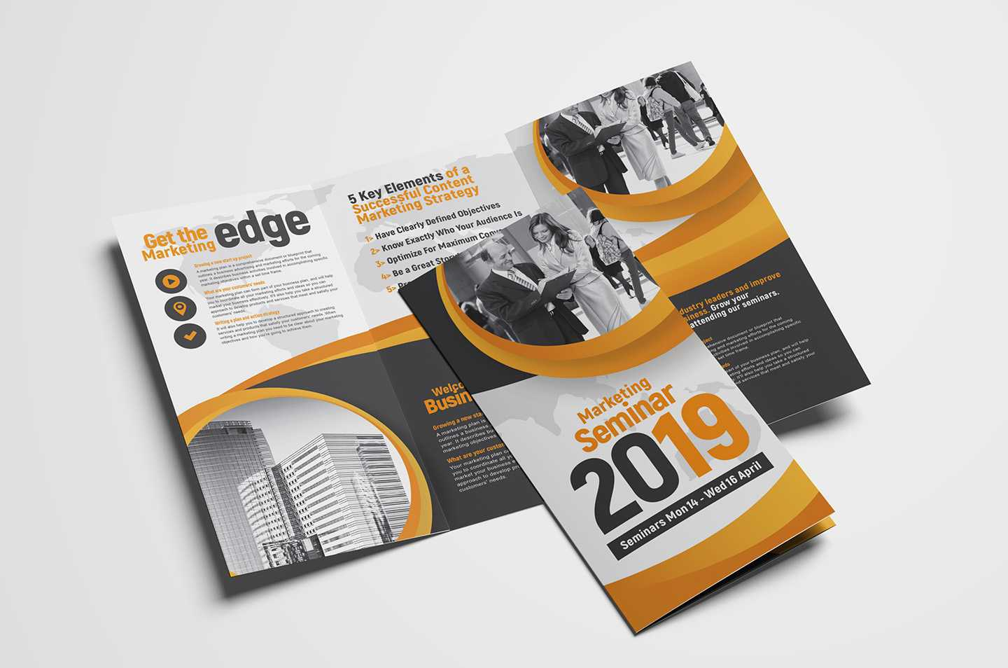 Marketing Seminar Tri-Fold Brochure Template - Psd, Ai & Vector within Brochure Psd Template 3 Fold