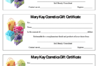 Mary Kay Certificate.636-448-4191. Seckhoff1@marykay pertaining to Mary Kay Gift Certificate Template