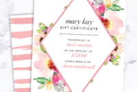 Mary Kay Gift Certificate! Find It Only At Www.thepinkbubble in Mary Kay Gift Certificate Template