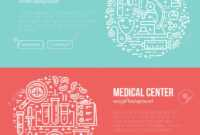 Medical Banner Design Template With Different Research Symbols.. in Medical Banner Template