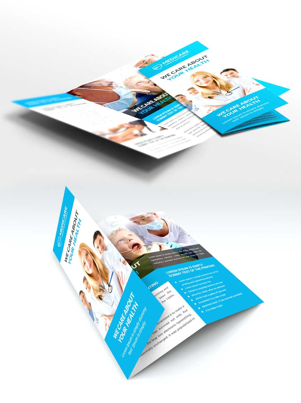 Medical Care And Hospital Trifold Brochure Template Free Psd Regarding Medical Office Brochure Templates