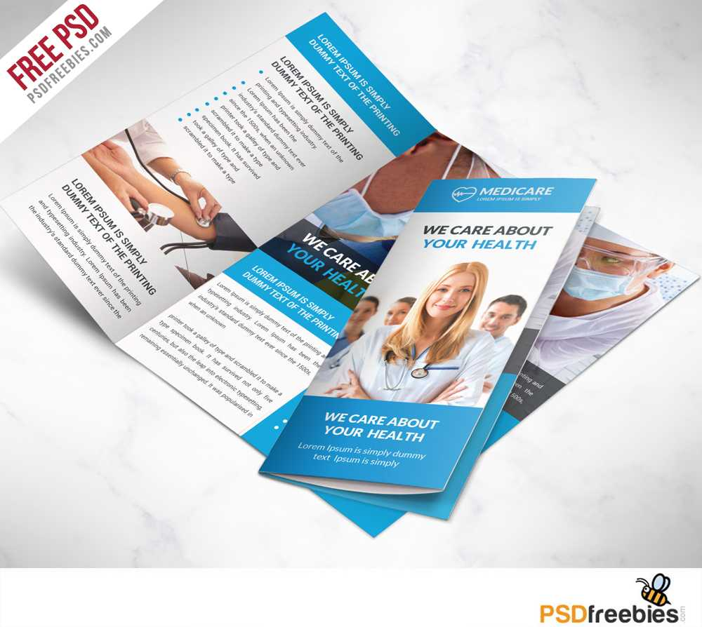 Medical Care And Hospital Trifold Brochure Template Free Psd with regard to Microsoft Word Brochure Template Free