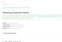Meeting Debrief Evernote Templates   Evernote Template throughout Debriefing Report Template