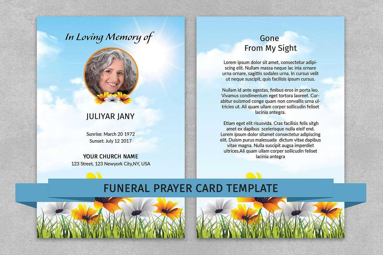 Memorial Prayer Card Template | Funeral Prayer Card Within Prayer Card Template For Word