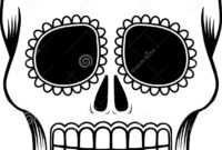 Mexican Sugar Skull Template Stock Vector – Illustration Of within Blank Sugar Skull Template