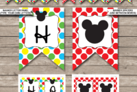 Mickey Mouse Party Banner Template for Diy Banner Template Free