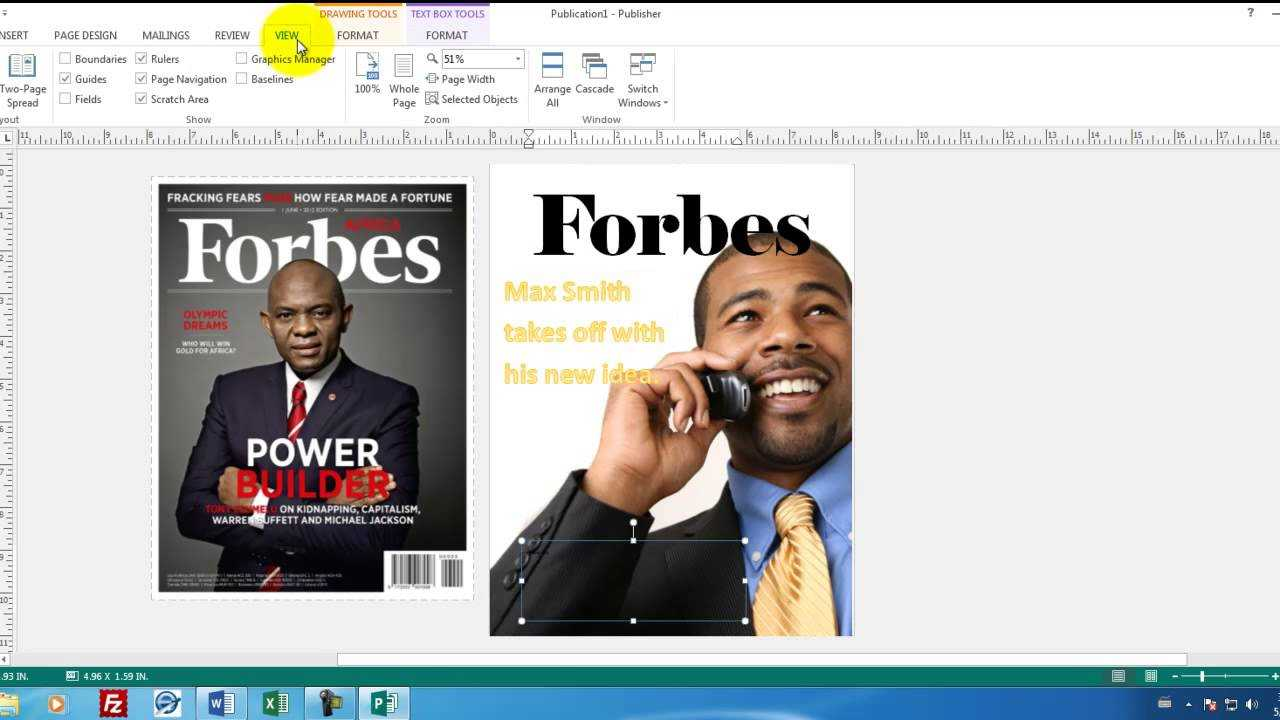 Microsoft Publisher 01 How To Create A Magainze Cover In Publisher pertaining to Magazine Template For Microsoft Word