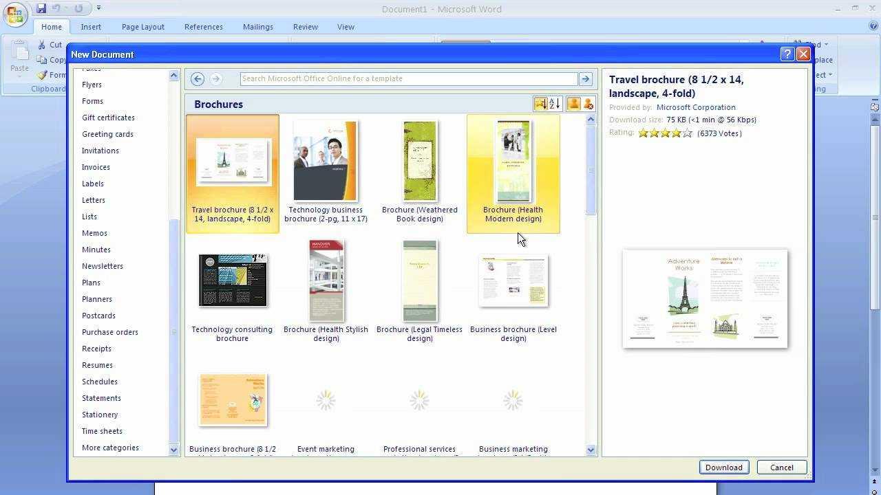 Microsoft Word Brochure Template With Regard To Microsoft Word Pamphlet Template