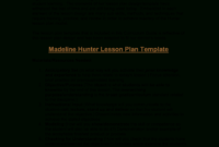 Microsoft Word – Madeline Hunter's Lesson Plan Format pertaining to Madeline Hunter Lesson Plan Template Blank