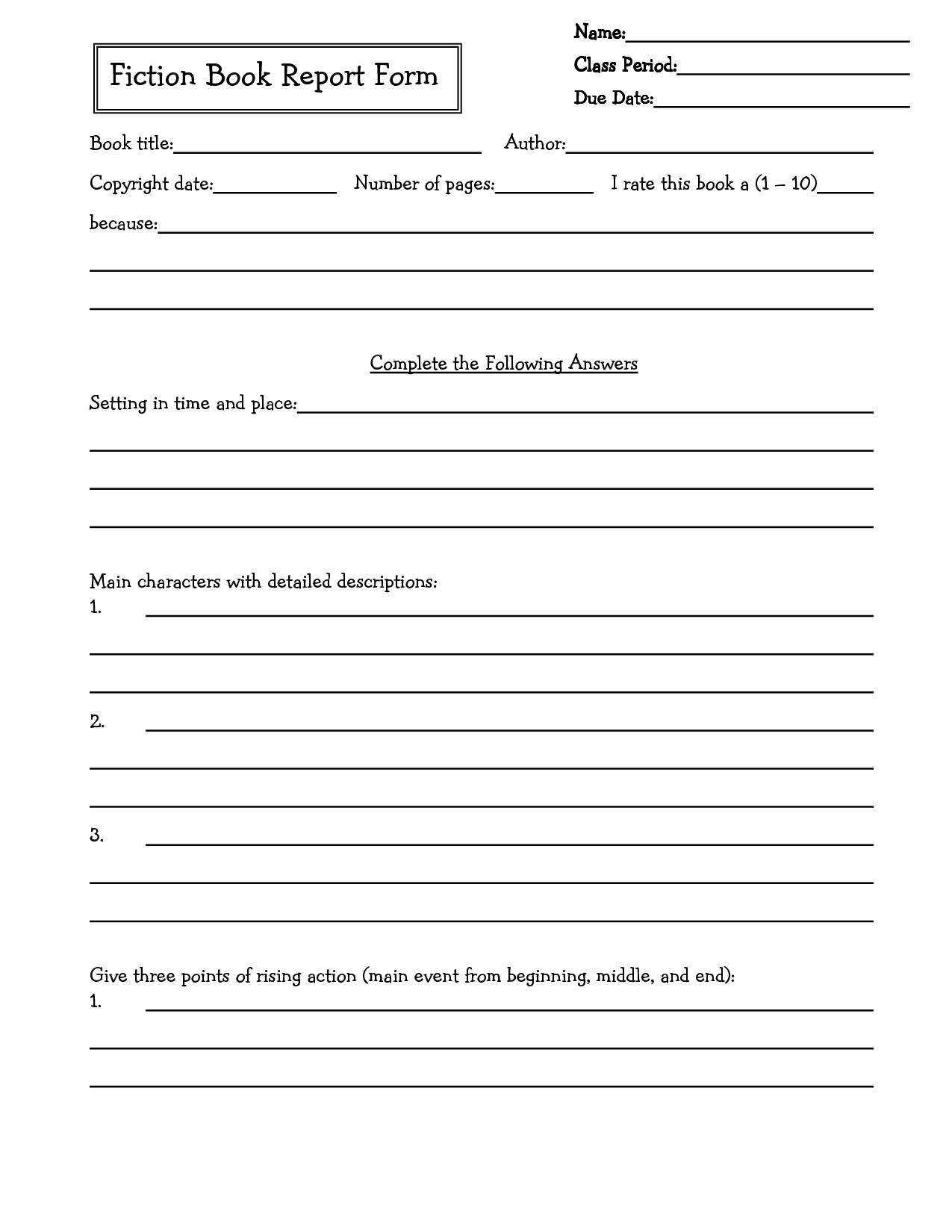 Middle School Book Report Brochure. 6Th Grade | 7Th Grade For Book Report Template Middle School