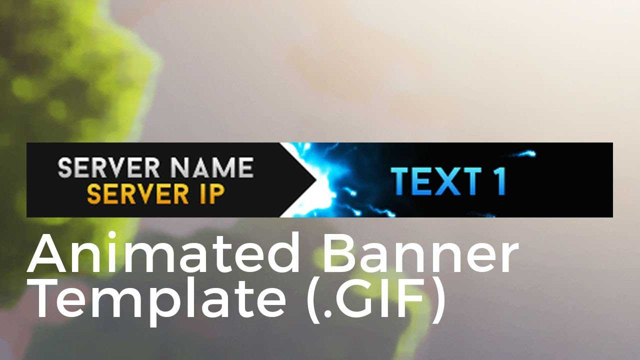 "Minecraft Animated Server Banner Template ""super Dazzle"" For Animated Banner Templates"
