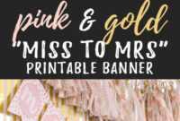 Miss To Mrs Banner – Free Printable | Bridal Shower Banner pertaining to Bridal Shower Banner Template