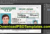 Mississippi Drivers License Template Psd intended for Blank Drivers License Template
