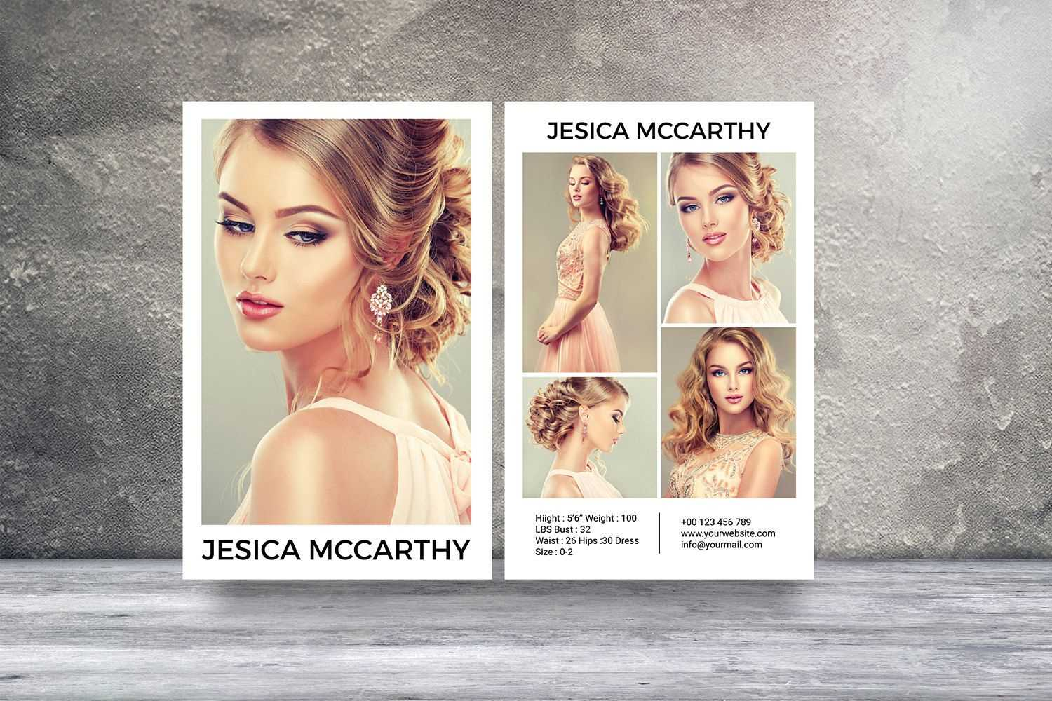 Modeling Comp Card | Fashion Model Comp Card Template Regarding Zed Card Template Free