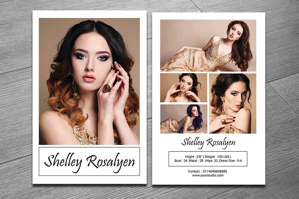 Modeling Comp Card Template On Behance Intended For Zed Card Template