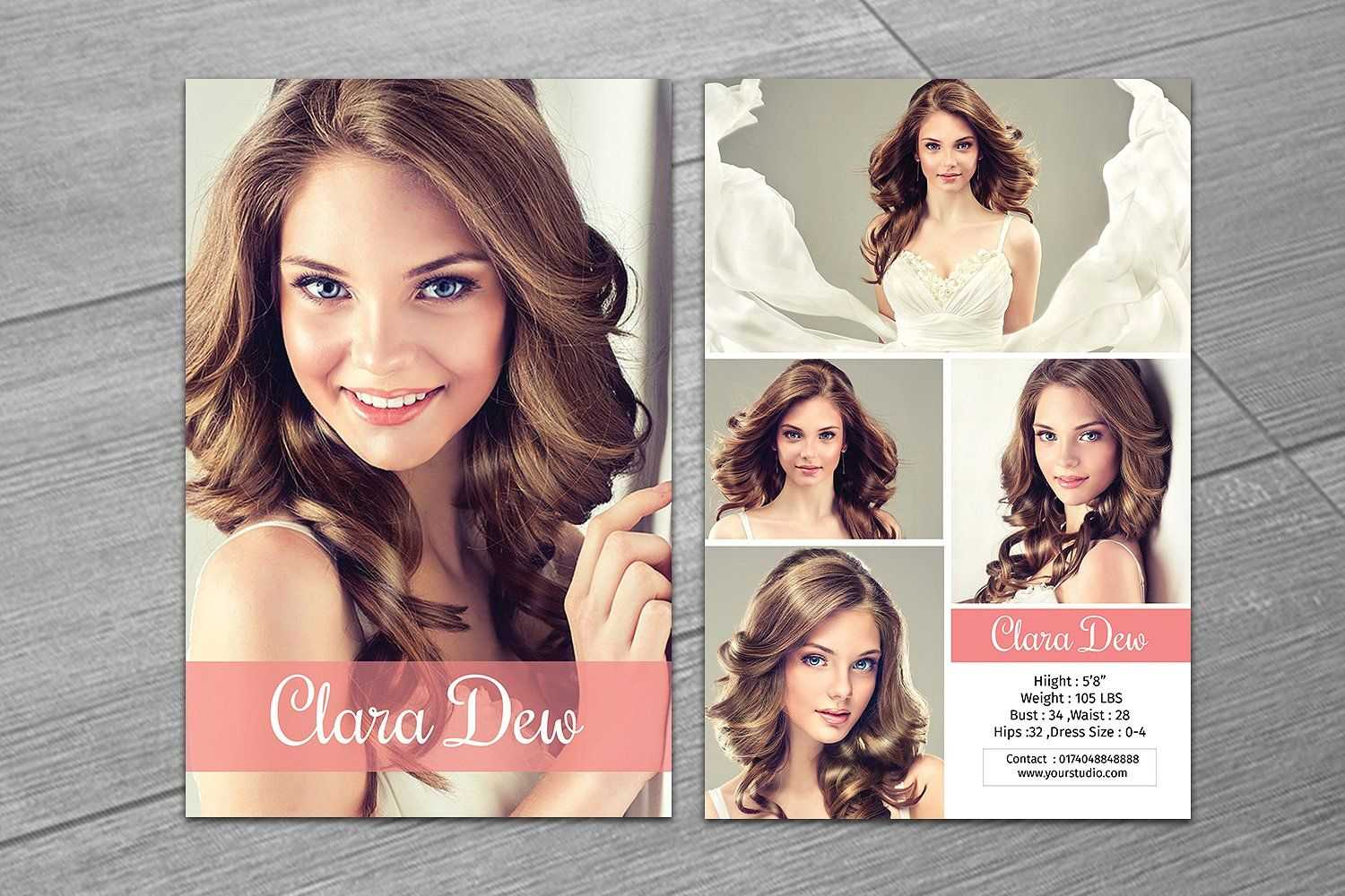 Modeling Comp Card Template V247Template Shop On With Regard To Comp Card Template Psd
