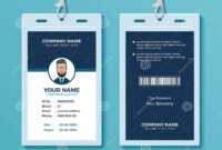 Modern And Clean Id Card Design Template Stock Vector with regard to Company Id Card Design Template