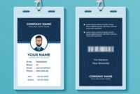 Modern And Clean Id Card Design Template within Company Id Card Design Template